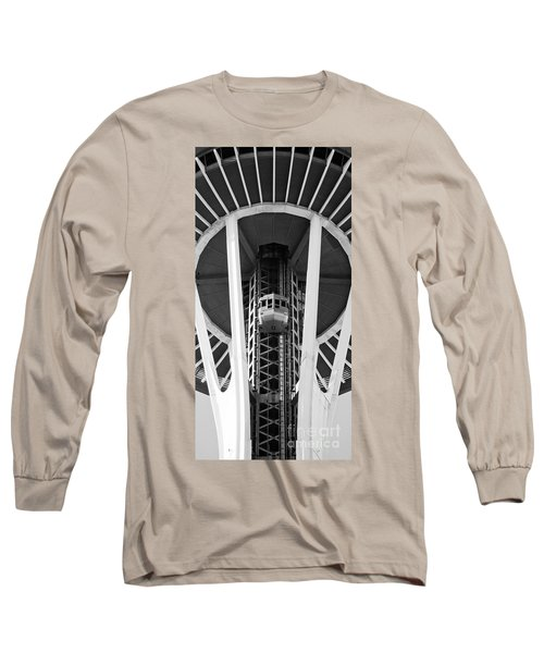 Long Sleeve T-Shirt featuring the photograph Space Needle Seattle by Chris Dutton