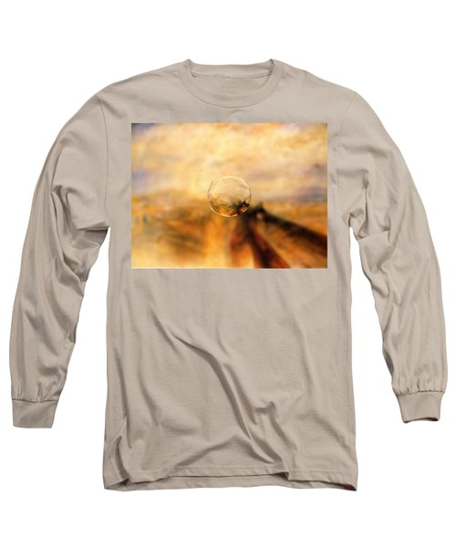 Sphere 8 Turner Long Sleeve T-Shirt by David Bridburg