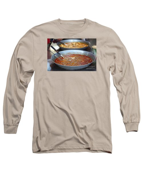 Spicy Duck Blood Soup Long Sleeve T-Shirt by Yali Shi