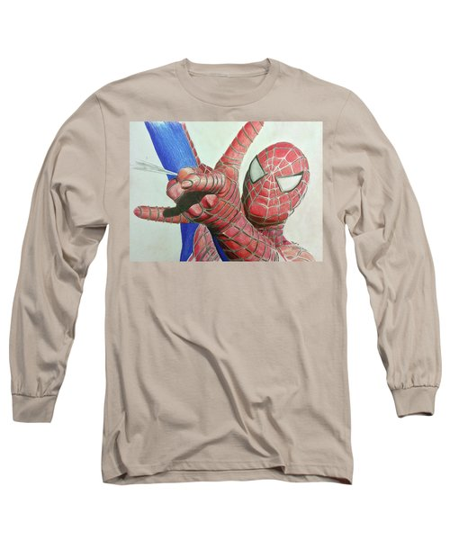 Spiderman Long Sleeve T-Shirt by Michael McKenzie