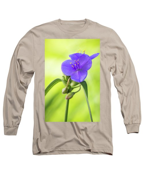 Spiderwort Wildflower Long Sleeve T-Shirt