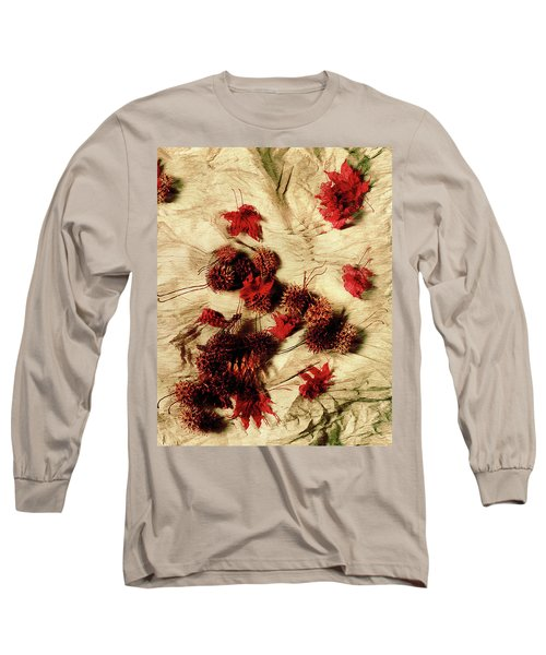 Spiked Nuts Red Long Sleeve T-Shirt