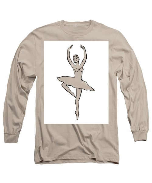 Spinning Ballerina Silhouette Long Sleeve T-Shirt