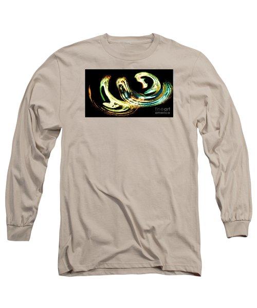 Long Sleeve T-Shirt featuring the photograph Spiral Activity - A Modern Fractal Image by Merton Allen