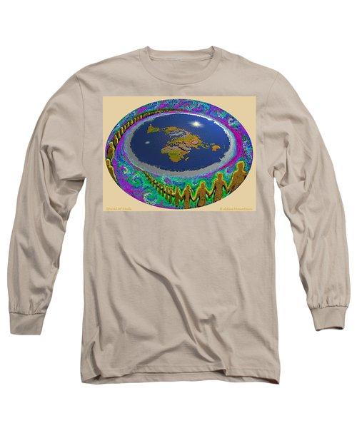 Spiral Of Souls Flat Earth Long Sleeve T-Shirt