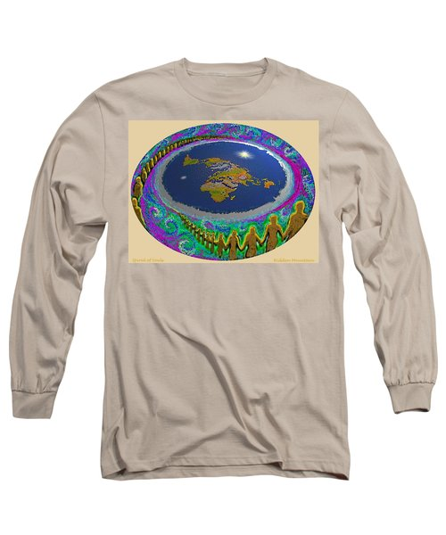 Spiral Of Souls Flat Earth Long Sleeve T-Shirt