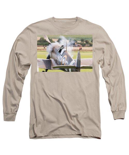 Spitfire Engine Start Smoke Rings Long Sleeve T-Shirt