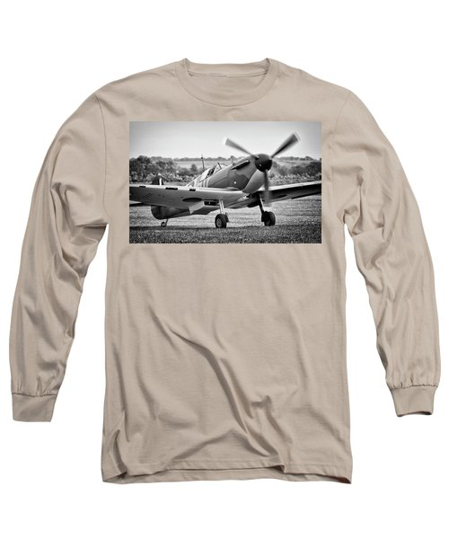 Spitfire Mk1 Long Sleeve T-Shirt by Ian Merton