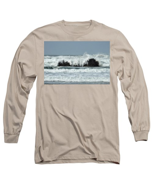 Long Sleeve T-Shirt featuring the photograph Splash by Peggy Hughes