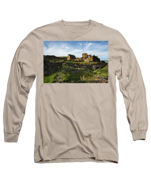 Splendid Ruins Of St. Sargis Monastery In Ushi, Armenia Long Sleeve T-Shirt by Gurgen Bakhshetsyan