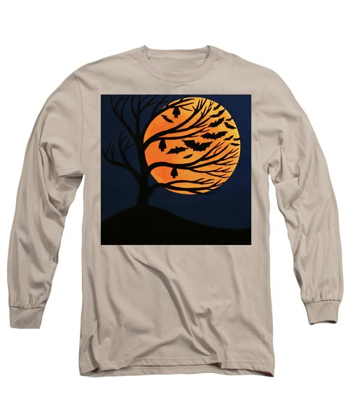 Spooky Bat Tree Long Sleeve T-Shirt