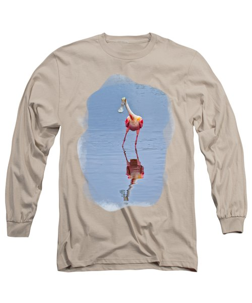 Spoonbill 1 Long Sleeve T-Shirt by John M Bailey