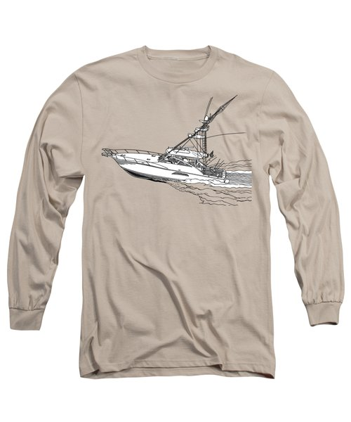 Sportfish Yacht Custom Tee Shirt Long Sleeve T-Shirt