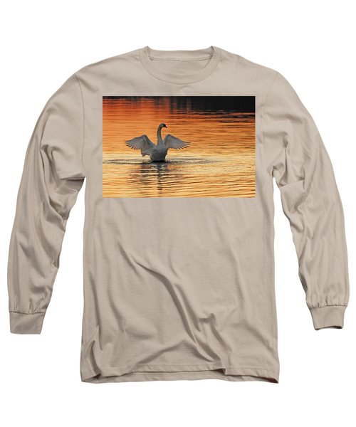Spreading Her Wings In Gold Long Sleeve T-Shirt