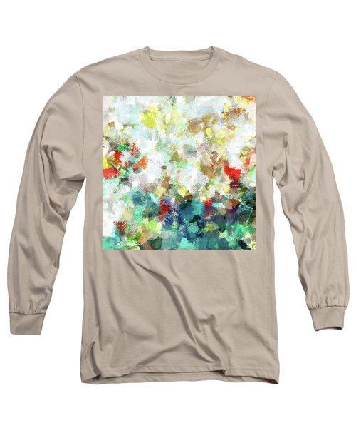 Spring Abstract Art / Vivid Colors Long Sleeve T-Shirt by Ayse Deniz