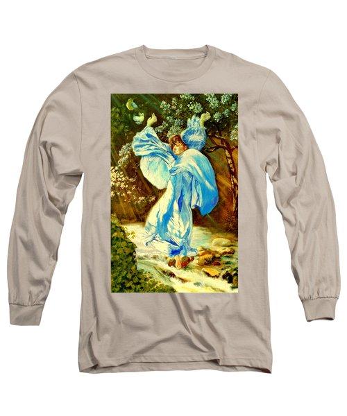 Long Sleeve T-Shirt featuring the painting Spring - Awakening by Henryk Gorecki