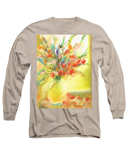 Long Sleeve T-Shirt featuring the painting Spring Bouquet by Frances Marino