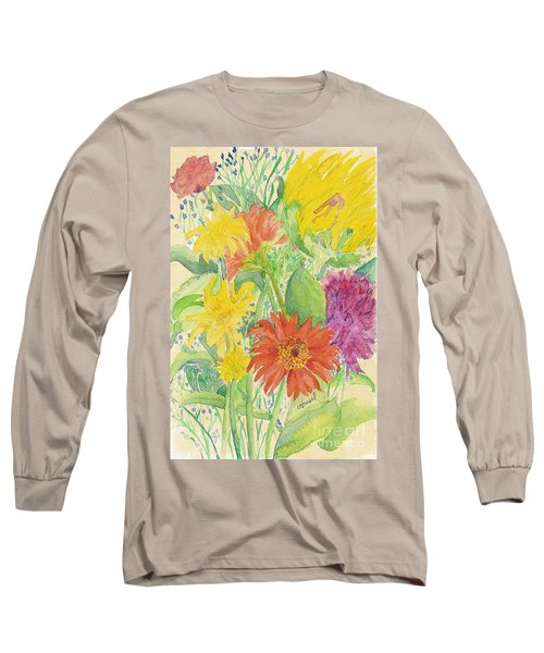 Long Sleeve T-Shirt featuring the painting Spring Bouquet  by Vicki  Housel