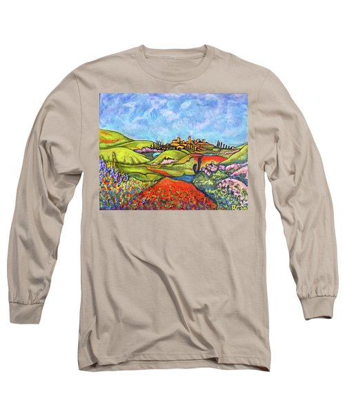 Long Sleeve T-Shirt featuring the painting Spring Breeze by Rae Chichilnitsky