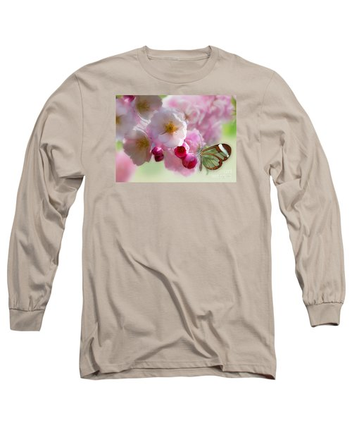 Spring Cherry Blossom Long Sleeve T-Shirt by Morag Bates