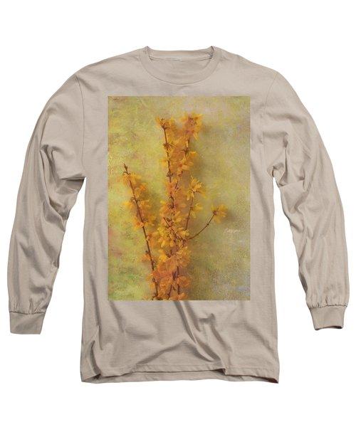 Spring Forsythia Long Sleeve T-Shirt by Catherine Alfidi