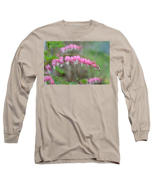 Spring Hearts Long Sleeve T-Shirt by Janet Rockburn