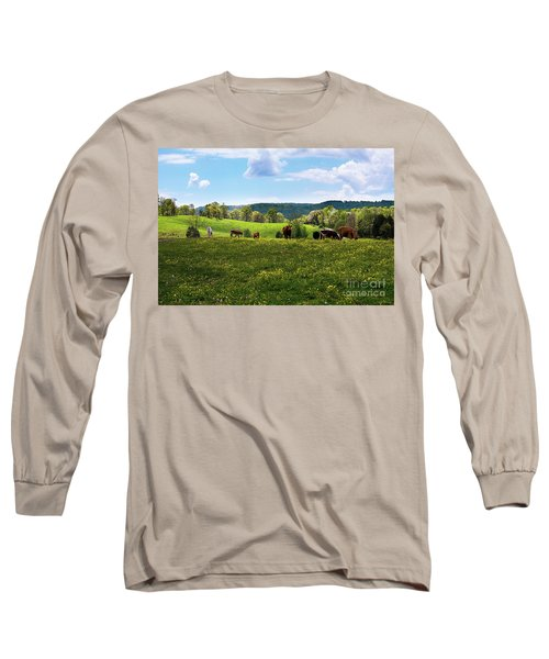 Spring Pastureland Long Sleeve T-Shirt by Paul Mashburn