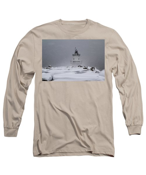 Spring Point Ledge Lighthouse Blizzard Long Sleeve T-Shirt