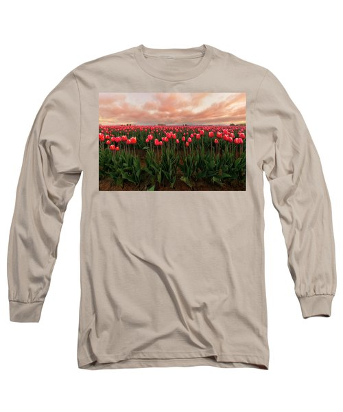 Spring Rainbow Long Sleeve T-Shirt by Ryan Manuel
