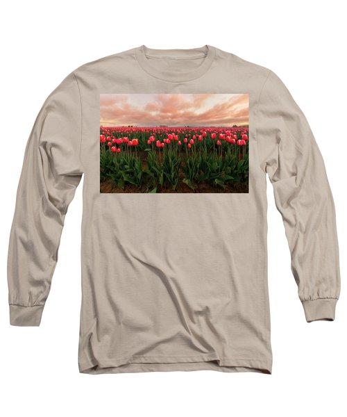 Spring Rainbow Long Sleeve T-Shirt by Ryan Manuel
