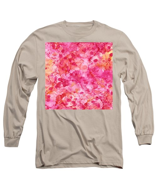 Spring Rose Abstract Long Sleeve T-Shirt by Patricia Lintner