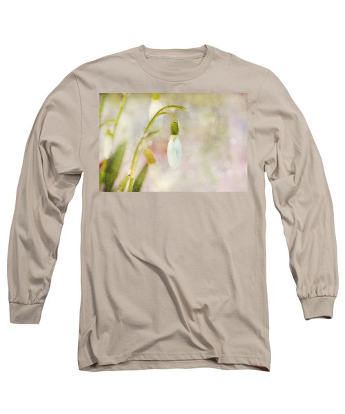 Spring Snowdrops And Bokeh Long Sleeve T-Shirt by Peggy Collins