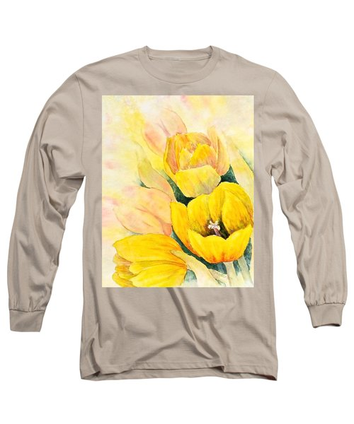 Long Sleeve T-Shirt featuring the painting Spring Tulips by Carolyn Rosenberger