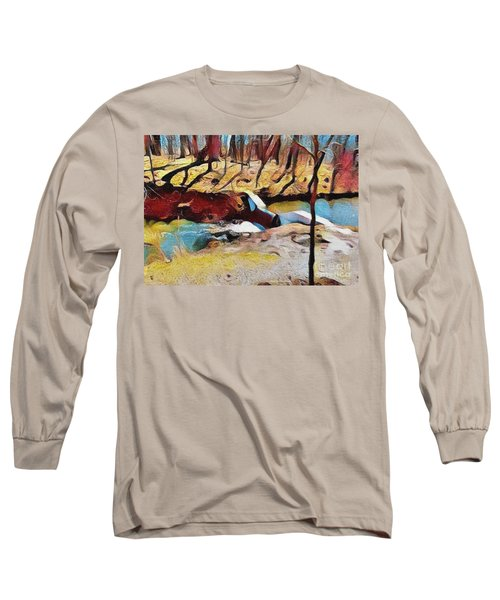 Spring Waterfall Long Sleeve T-Shirt by Kathie Chicoine
