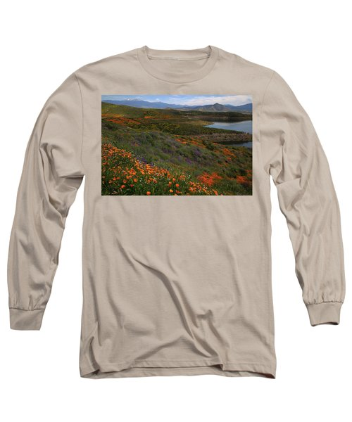 Long Sleeve T-Shirt featuring the photograph Spring Wildflowers At Diamond Lake In California by Jetson Nguyen