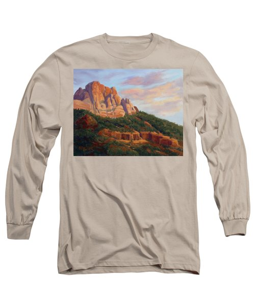 Springdale Sunset On Johnson Mountain Long Sleeve T-Shirt