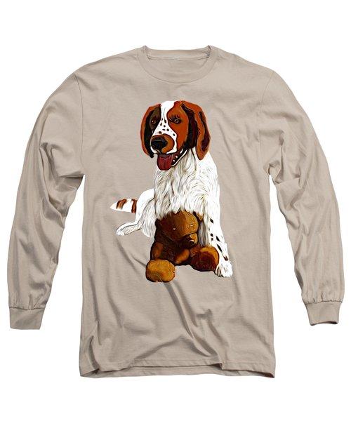 Springer Spaniel And Teddy Bear Long Sleeve T-Shirt