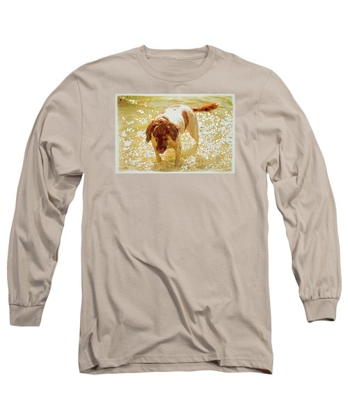 Long Sleeve T-Shirt featuring the photograph Springer Wc by Constantine Gregory