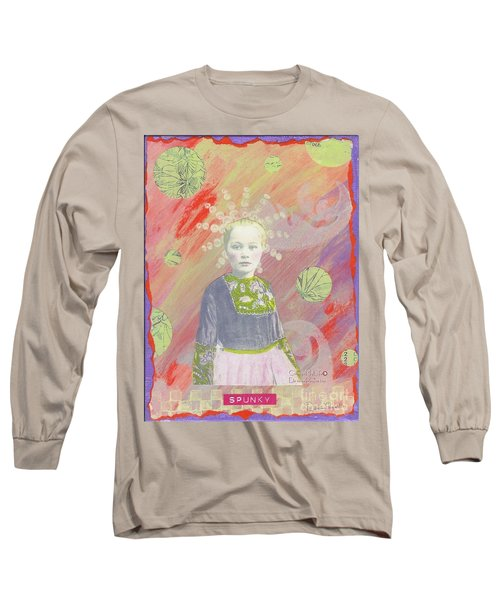 Long Sleeve T-Shirt featuring the mixed media Spunky Got Funky by Desiree Paquette