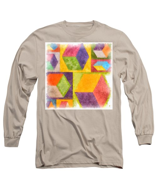 Square Cubes Abstract Long Sleeve T-Shirt