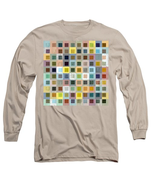 Squares In Squares Three Long Sleeve T-Shirt by Michelle Calkins
