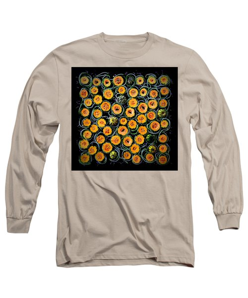 Squash And Zucchini Patters Long Sleeve T-Shirt