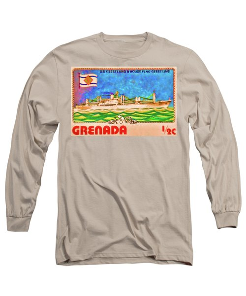 S.s Geestland And House Flag Geest Line Long Sleeve T-Shirt by Lanjee Chee