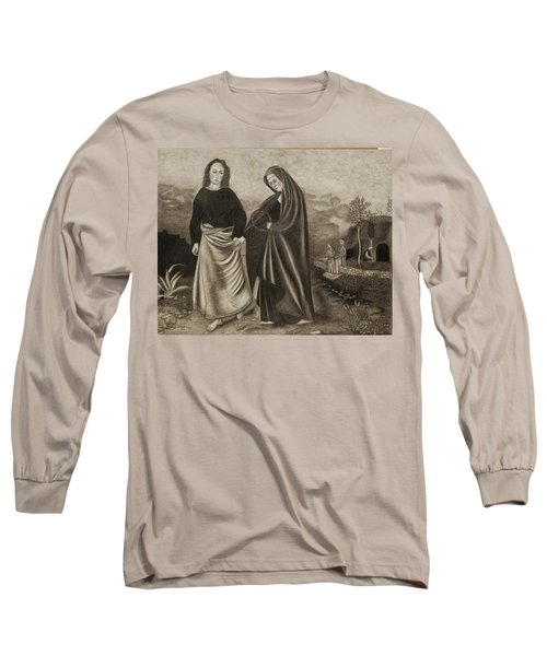St. John And Blessed Mother At The Tomb Long Sleeve T-Shirt