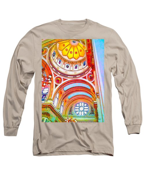 St. Mary Of The Angels 1 Long Sleeve T-Shirt by Dave Luebbert
