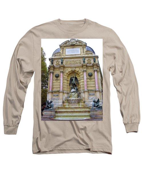 St. Michael's Fountain Long Sleeve T-Shirt