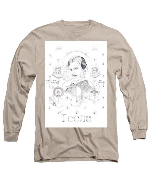 St. Nikola Tesla Of Serbia Sombra De Arreguin Long Sleeve T-Shirt