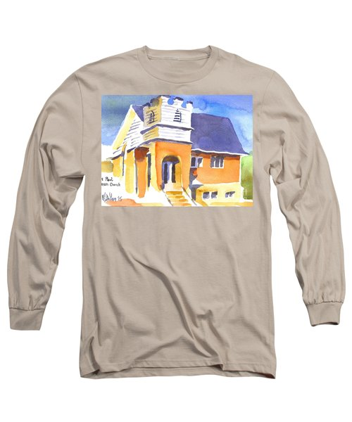 Long Sleeve T-Shirt featuring the painting St. Paul Lutheran 3 Impressions by Kip DeVore