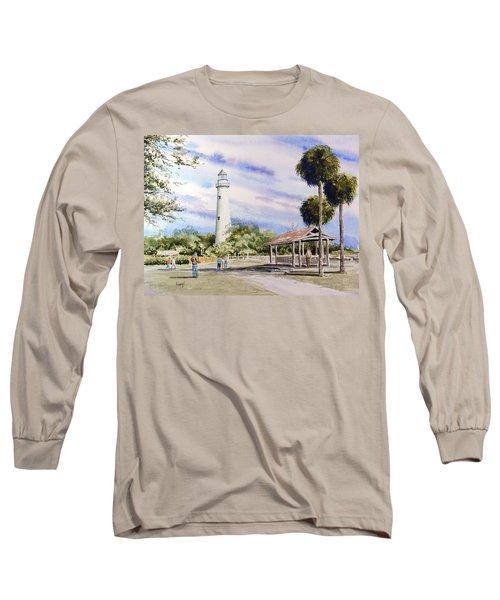 St. Simons Island Lighthouse Long Sleeve T-Shirt