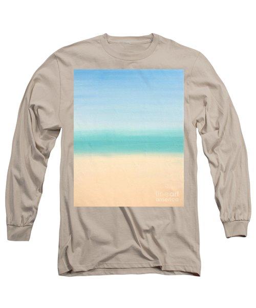 St Thomas #3 Seascape Landscape Original Fine Art Acrylic On Canvas Long Sleeve T-Shirt